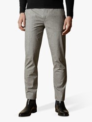 Ted Baker Sappy Check Cotton Trousers Grey