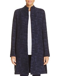 Eileen Fisher Stand Collar Open Front Jacket Midnight