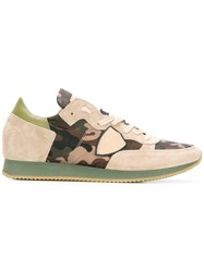 Philippe Model Camouflage Lace Up Sneakers Green
