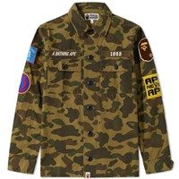 A Bathing Ape 1St Camo Military Shirt Green