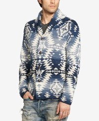Denim And Supply Ralph Lauren Men's Southwestern Cardigan Navy