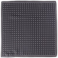 John Lewis Polka Dot Silk Pocket Square Black White