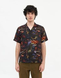 Saturdays Surf Nyc Canty Midnight Paradise Short Sleeve Shirt In Midnight Paradise Print Size Small