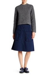 Marc By Marc Jacobs Pocket A Line Skirt Blue