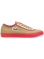 Marni Low Top Sneakers Cotton Leather Rubber Green