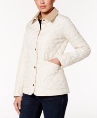 Barbour Spring Annandale Quilted Jacket Pearl Summer Tartan