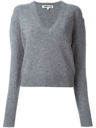 Mcq By Alexander Mcqueen V Neck Jumper Grey