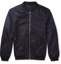 Christopher Kane Satin Shell Bomber Jacket Blue