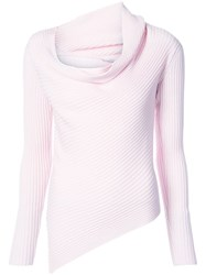 Tome Asymmetric Knit Top Pink And Purple