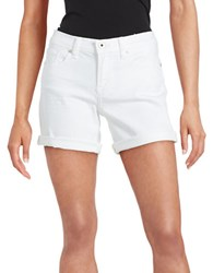 Lucky Brand Cuffed Jean Shorts White
