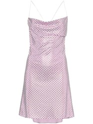 Adam Selman Bottom Of My Heart Slip Dress Metallic