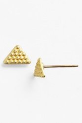 Maison Scotch Boxed Hammered Triangle Earrings Metallic
