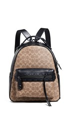 Coach 1941 Coated Canvas Signature With Whipstitch Canvas Backpack Tan Black