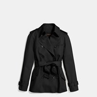 Coach Modern Short Trench Black