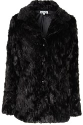 Alice And You Long Faux Fur Coat Black