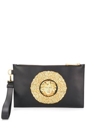Versace Medusa Embroidered Pouch Black
