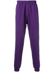Paura Tapered Track Pants Pink And Purple