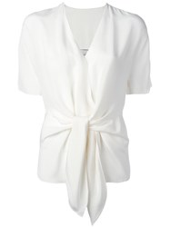 3.1 Phillip Lim Tie Front Shortsleeved Blouse White
