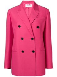 Valentino Double Breasted Tailored Blazer Pink And Purple