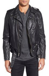 Men's Schott Nyc Washed Leather Moto Jacket