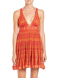 Missoni Babydoll Cover Up Dress Red Orange