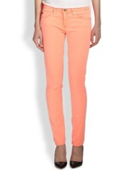 Ag Jeans Neon Stilt Skinny Jeans Bright Orange