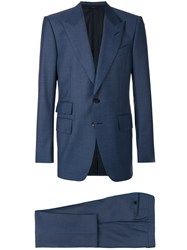 Tom Ford Slim Fit Two Piece Suit Blue