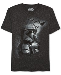 Jem Men's Star Wars Storm Trooper Graphic Print T Shirt Black Speckle