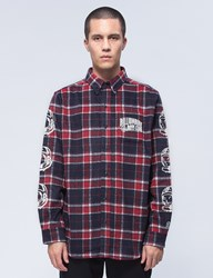 Billionaire Boys Club Helmet Print Flannel Shirt