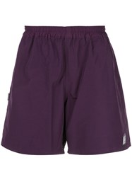 Neighborhood Side Logo Track Shorts Purple
