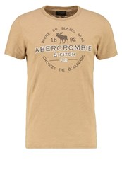 Abercrombie And Fitch Print Tshirt Beige