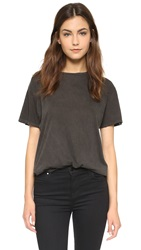 R 13 Cotton Cashmere Boy Tee Washed Black
