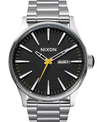 Nixon Sentry Ss Grand Pix Watch With Black Dial