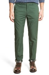 Men's Bonobos Slim Fit Flannel Lined Chinos Seaweed