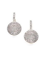 Phillips House Pave Diamond And 14K Yellow Gold Petite Infinity Drop Earrings
