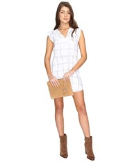 Bb Dakota Janis Plaid Dress Bright White Women's Dress