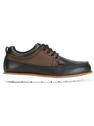 Armani Jeans Boat Style Lace Up Shoes Brown