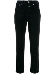 Closed High Waisted Corduroy Trousers Blue