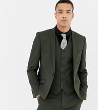 Heart And Dagger Skinny Suit Jacket Green