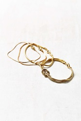 Urban Outfitters Laura Layering Chain Bracelet Set Gold