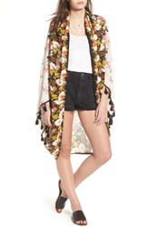 Free People Bali Wrapped In Blooms Shawl Neutral Combo
