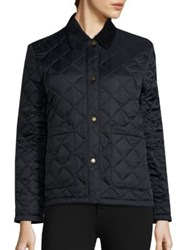 Barbour Summer Cropped Quilted Jacket Navy