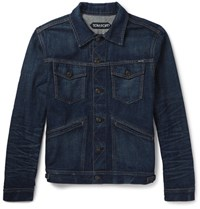 Tom Ford Lim Fit Elvedge Denim Jacket Blue