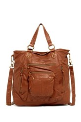 T Shirt And Jeans Washed Tote Brown
