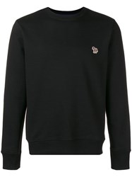 Paul Smith Ps By Embroidered Logo Sweatshirt Black