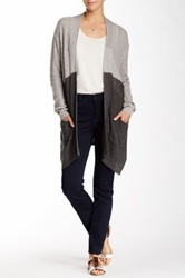 14Th And Union Two Tone Cardigan Gray