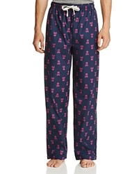 Psycho Bunny Woven Signature Print Lounge Pants Peacoat Bunny Blue
