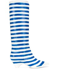 Christian Wijnants Anselm Striped Mid Calf Boots White