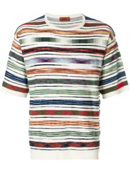 Missoni Mare Patterned T Shirt White