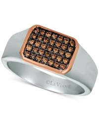 Le Vian Diamond Ring 1 3 Ct. T.W. In Sterling Silver And 14K Rose Gold Brown
